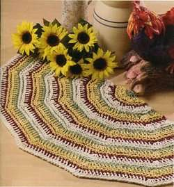 Crochet Rugs 6 Crochenit Floor Rugs Mats Patterns