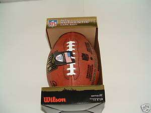 OFFICAL NFL WILSON LEATHER GAME FOOTBALL WTF1100