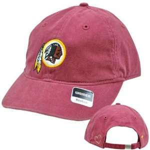 NFL Washington Redskins Maroon Red Relaxed Womens Ladies Heart Cap Hat