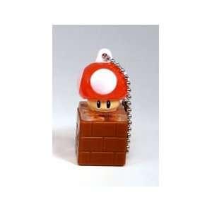 Super Mario Light Mascot Gashapon Keychain   Power Up