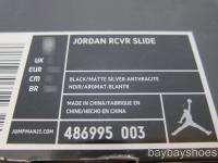 JORDAN RCVR SLIDE BLACK/MATTE SILVER/GRAY SPORT SANDALS MENS ALL SIZES