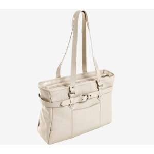 Siamod Serra Leather 15.4 Laptop Tote   Sand Everything