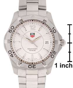 Tag Heuer Mens Silver Dial Aquaracer Watch