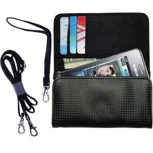 Black Purse Hand Bag Case for the Samsung S7230 with both