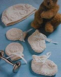Sweet Newborn Gift Set Crochet Pattern*booties* mittens*cap