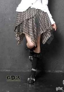 FreeShip. PUNK DOLLY gothic KERA Lolita NANA LAYER 61179 SKIRT M GOLD