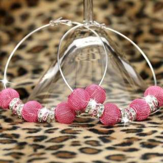 BK83 HOT Basketball Wives Circle Hoops Earring Fashion Jewelry Beads