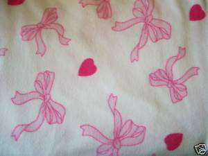 Fleece fabric by the yard: pink breast cancer ribbons