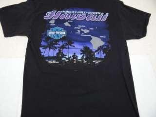 HARLEY DAVIDSON t shirt HONOLULU, HAWAII L