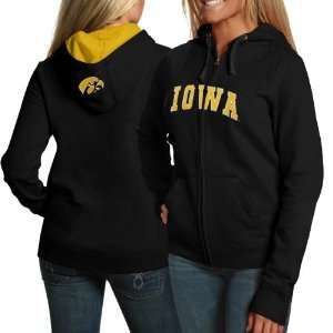 Iowa Hawkeyes Ladies Black Game Day Full Zip Hoody Sweatshirt