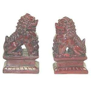 Pair Chinese Feng Shui Temple Lions Fu Dogs #10034
