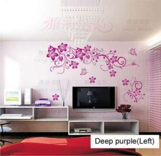 Beautiful Flowers Branch Vinyl Room Wall sticker Paper Decal EA059