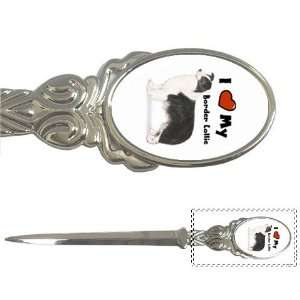I Love My Border Collie Letter Opener Office Products