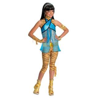 Monster High CLEO DE NILE Halloween Costume Dress + Wig S M L 4 6 8 10