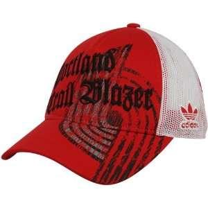 Portland Trail Blazers Ladies Red Mesh Back Adjustable Trucker Hat