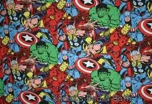 Captain America Thor Spiderman Marvel Comic FQ Fabric Material