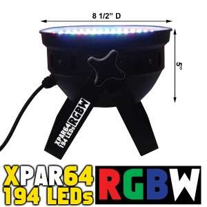 PAR 64 RGB W 194 LED DJ DISCO CLUB STAGE LIGHT DMX 8CH AMERICAN COLOR