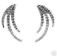 25 CT White Gold Diamond Earrings 18 KT