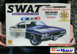 SWAT DODGE CHALLENGER 1/24 MODEL KIT OTAKI JAPAN