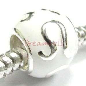 1x Sterling silver White Leo Zodiac European Bead Charm