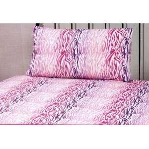 Set Zebra in Stripe of Pink, Hot Pink, Lavender (White Background