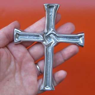 Wall Cross Pewter Icon Pectoral Jesus Christ Nails Knot
