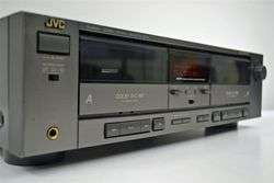 JVC Stereo Dual Cassette Deck Tape Player Recorder TD W207
