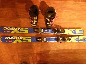 Youth Atomic Skis and Boots Excellent Condition