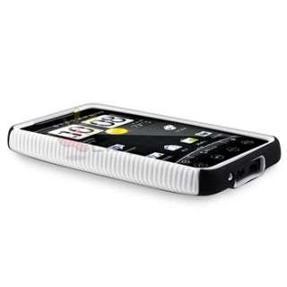 Pink Black Blue White Dual Flex Hybrid Hard Case Cover For Sprint HTC