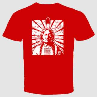 Indian Chief T shirt Native American leaders Ethnic