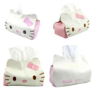 Hello Kitty artificial leather Plush Tissue Box Cover
