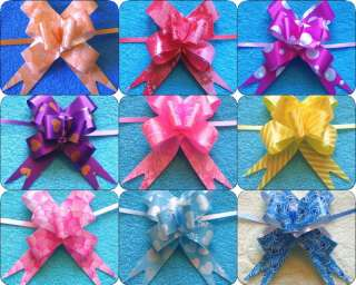 "45pcs 7/8""x17"" Pull Flower Ribbon Bow Gift Wrap 9 COLOR"