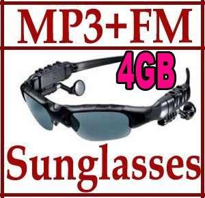 Player+FM Radio 4GB Headset Sunglasses Sun Glass