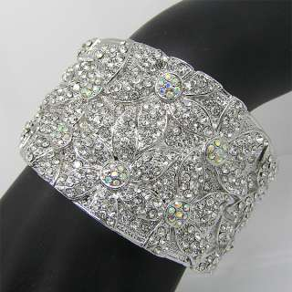 Elegant Bracelet Bangle Cuff W swarovski crystal B191
