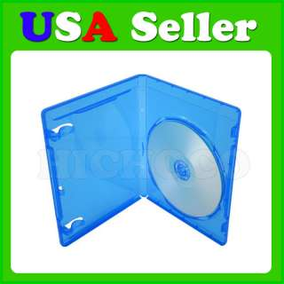 Single Blue Case For Blu Ray DVD CD Disc Movie Box