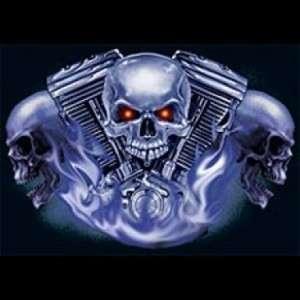 Skull And Engine T Shirt harley rider BLACK OR GRAY