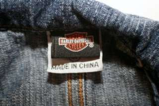 Up for your consideration is a Harley Davidson Girls Denim Jean Fitted