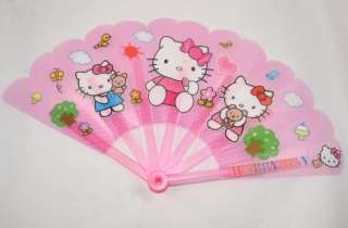 Hello Kitty Plastic Hand Fan (Pink)