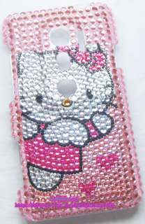 New Hello kitty Bling Case Cover For Sprint HTC EVO 3D #1