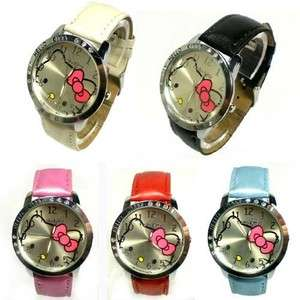 New HelloKitty Ladies Quartz Watch Wristwatch 5 Color