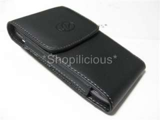 universal black vertical leather case pouch holster belt clip