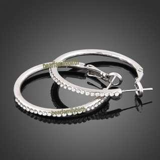 Fashion Swarovski crystal 18k Gold Gp earrings E12