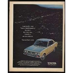 1970 Toyota Mark II Economy Car Print Ad (9124): Home