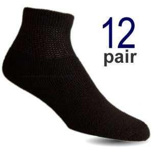 Mens Black Ankle Diabetic Socks