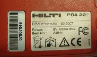 Hilti PRI 2 PRA 2 PRA 22 PRA 71 Rotary Laser Level Set