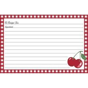 Gibson 4x6 Recipe Cards Kitchen Cherry