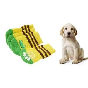 Como 4 Pcs Pet Dog Puppy Socks with Frog Pattern 8 x 4cm: Pet Supplies