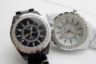 Luxury Charming Ceramic Crystal Gemstone Lady Women Fashion Wrist