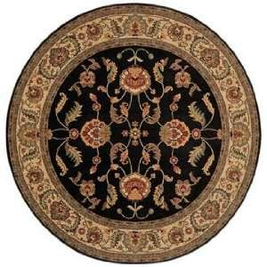Ashara Collection Agra Black 88 Round Karastan Area Rug