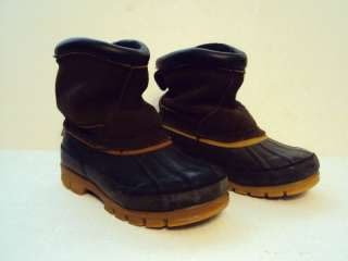 GIRLS WINTER LEATHER SNOW BOOTS SIZE 12 TODDLER BROWN